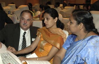 Helping Indian Teachers Use Sketchpad in 2007.