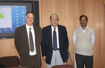 Meeting with the Indian Secretary of Education on issues of mathematics education in 2007.