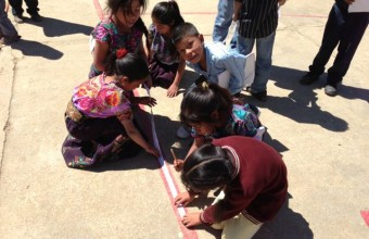 Children Measuring their School Playground, Chiapas, Mexico, 2013.