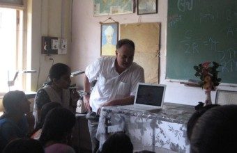 Talking with Preservice Teachers in Mumbai, India, in 2007.