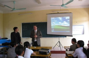 Visiting with Students, Thai Nguyen, Vietnam, 2007.