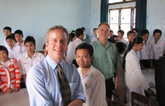 Visiting a classroom in Hue, Vietnam, in 2009 with Nicholas Jackiw, creator of The Geometer's Sketchpad.